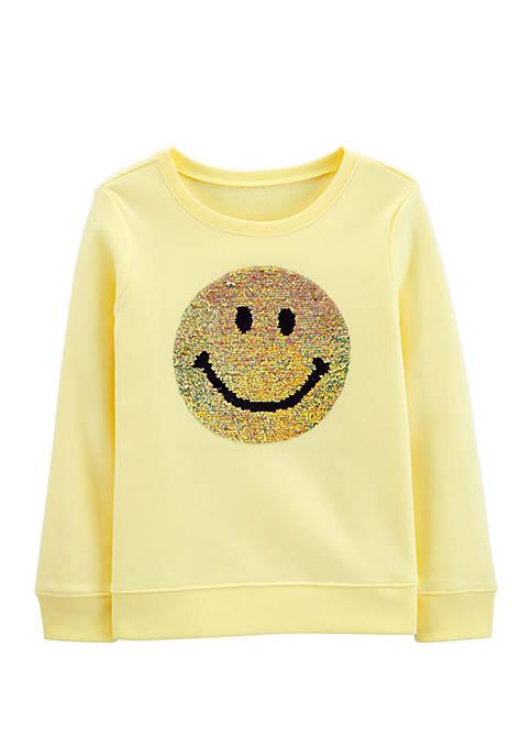 OshKosh B'gosh® Girls 4-8 Flip Sequin Smiley Face