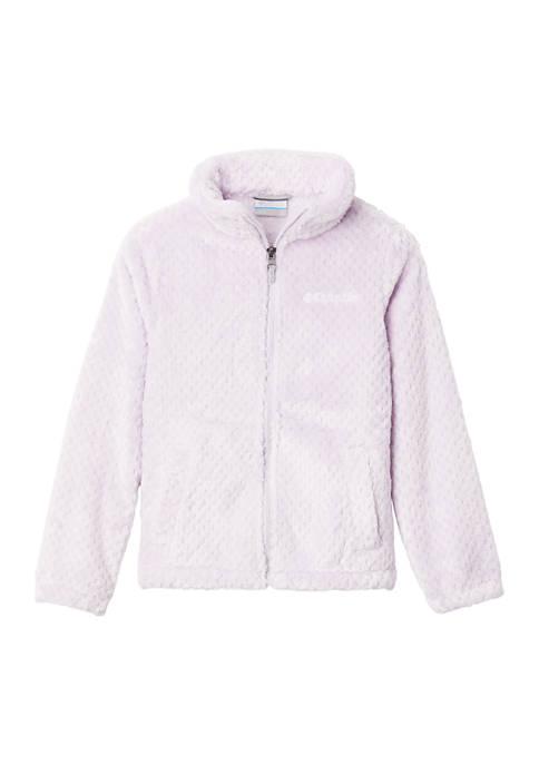 Columbia Girls 7-16 Zip-Up Solid Fluffy Fleece
