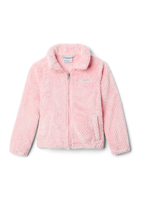Girls 7-16 Zip-Up Solid Fluffy Fleece