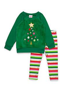 GIrls 4-6x Christmas Tree Woobie Set