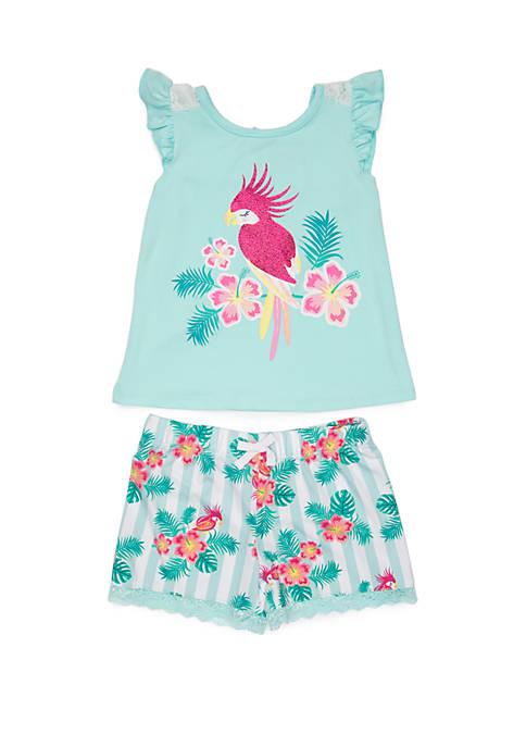 Nannette Girls 4-6x Yummy Parrot Short Set