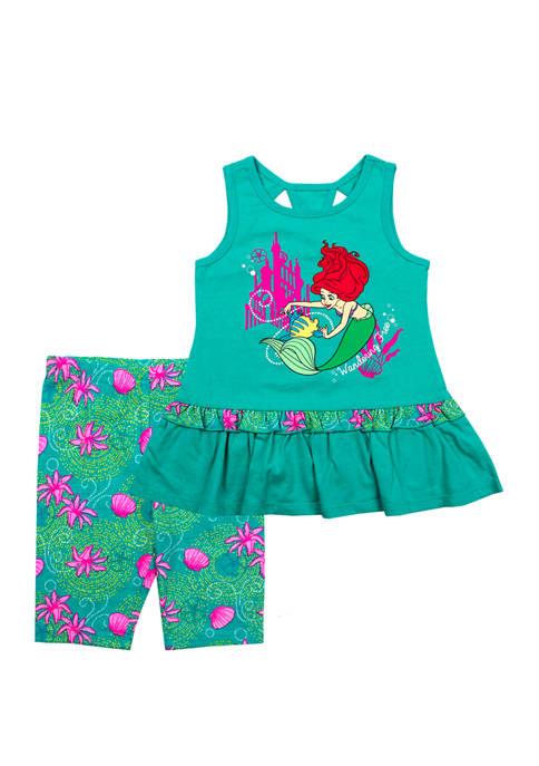 Disney® Princess Girls 4-6x Ariel Bike Shorts Set