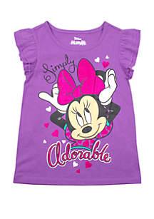 Nannette Toddler Girls 4-6x Short Sleeve Minnie T-Shirt