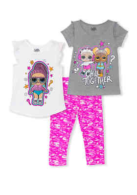 Baby girl 3 piece set hood jacket trousers t-shirt pink cream clothes gift idea