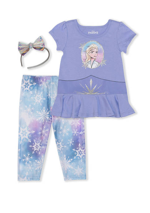 Disney® Toddler Girls 3 Piece Elsa Costume Set