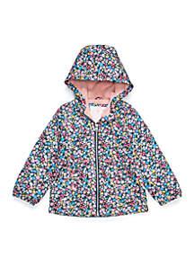 Girls 2-6x Floral Fleece Lined Jacket