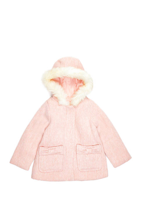 Carter's® Toddler Girls Two Toned Faux Wool Jacket
