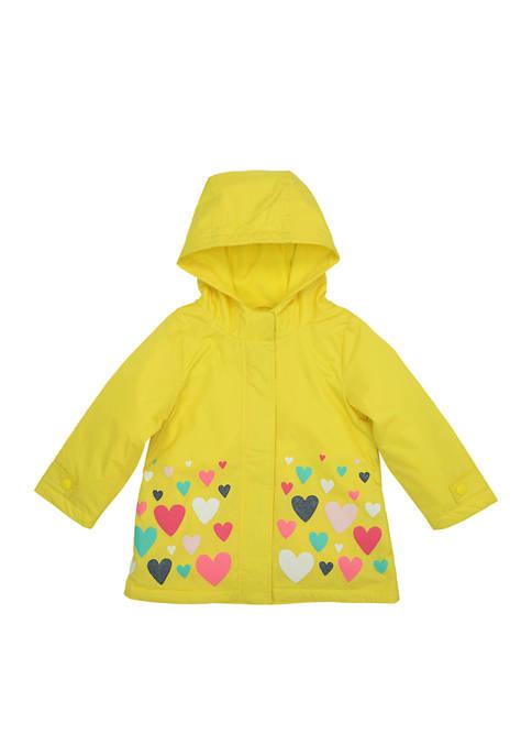 Amerex Girls 4-6x Heart Border Rain Jacket