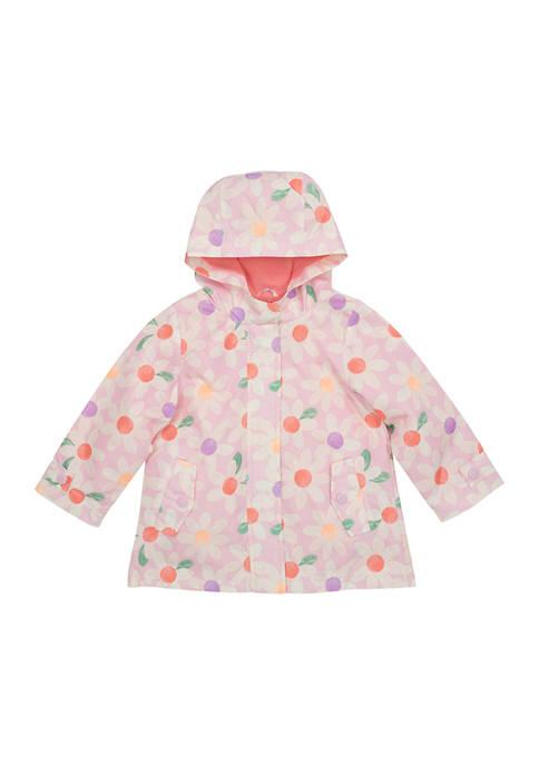 Amerex Girls 4-6x Daisy Print Rainslicker Jacket