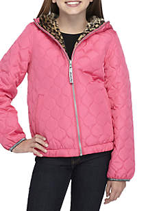 Girls 7-16 Reversible Quilted Puffer Coat
