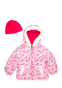 Toddler Girls 4-6x Nordic Fairisle Puffer Jacket