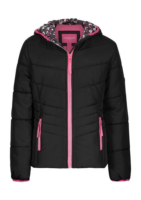 Amerex Girls 7-16 Black Puffer Jacket
