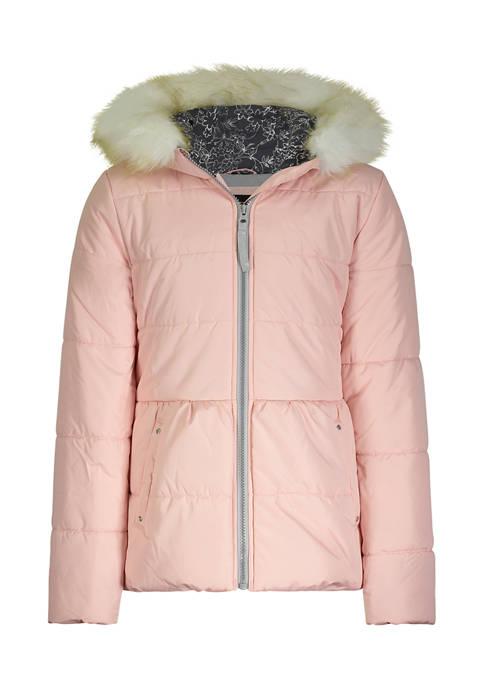 Amerex Girls 7-16 Amanda Aqua Puffer Jacket