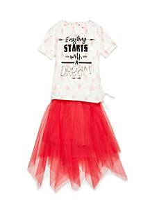 Girls 4-6x Tulle Skirt Tee Set