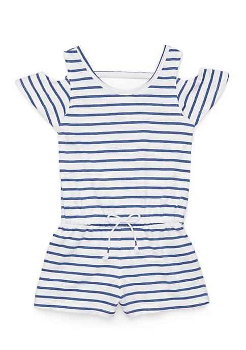 One Step Up Stripe Short Romper Girls 4-6x