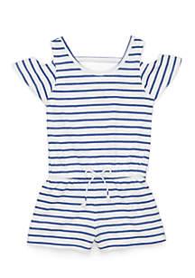 Stripe Short Romper Girls 4-6x