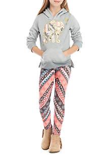 Girls 7-16 Elephant Fleece Hoodie Set