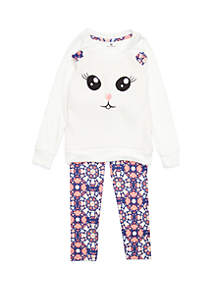 One Step Up Toddler Girls Cat Face Woobie Set