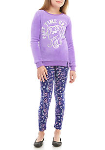 Girls 7-16 Unicorn Woobie Tunic with Printed Legging Set