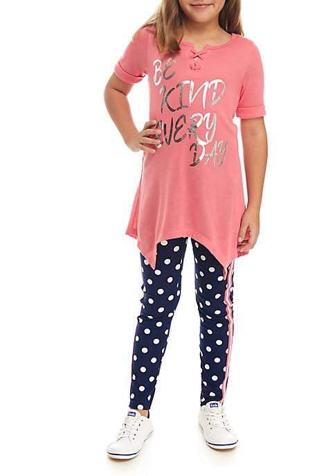 One Step Up Girls 7 16 Be Kind Legging Set Belk