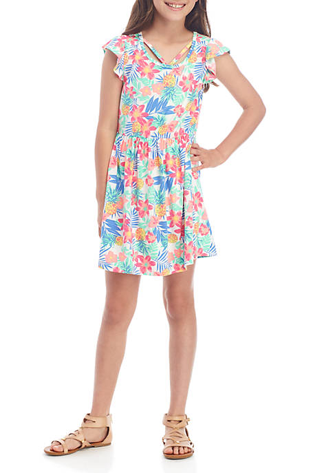Colette Lilly Girls 7-16 Sleeveless Tropical Yummy Dress