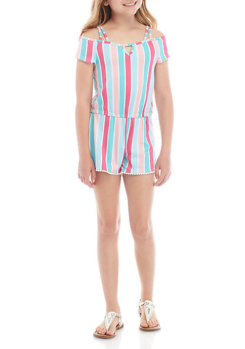 Girls 7-16 Yummy Multi Stripe Romper