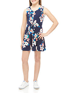 Love Republic Girls 7-16 Yummy Navy Floral Tie Front Dress