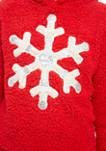 Girls 7-16 Sherpa Snowflake Santa 2 Piece Legging Set