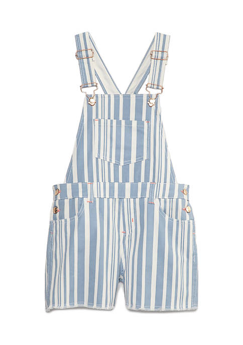 Girls 4-6x Stripe Shortalls