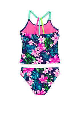 8dc6e9f6057bd ... Breaking Waves Girls 7-16 Hawaiian Time Tankini Swim Set
