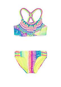 a0c87e79b9e ... Breaking Waves Girls 7-16 Rainbow Medallion 2 Piece Swimsuit