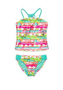7cdf986e461 ... Breaking Waves Girls 7-16 Boho Splash Tankini 2-Piece Swim Set