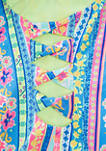 Girls 7-16 2 Piece Set Boho Glow Multi Strap Swimsuit