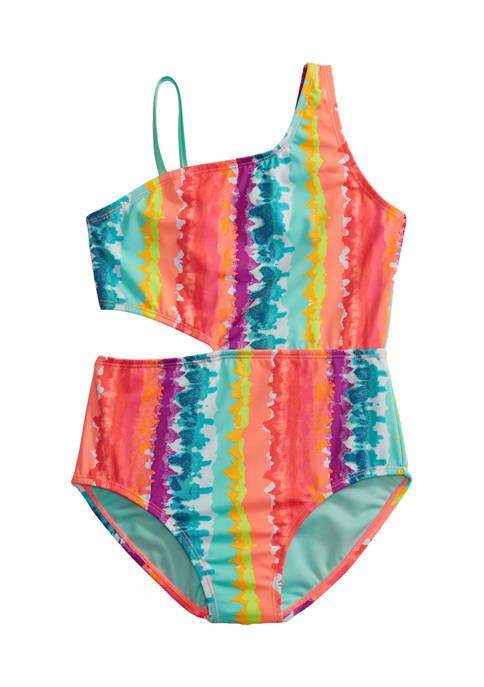 Breaking Waves Girls 7-16 Tie Dye Side Cutout