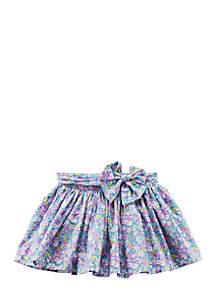 Girls 4-8 Floral Poplin Skirt