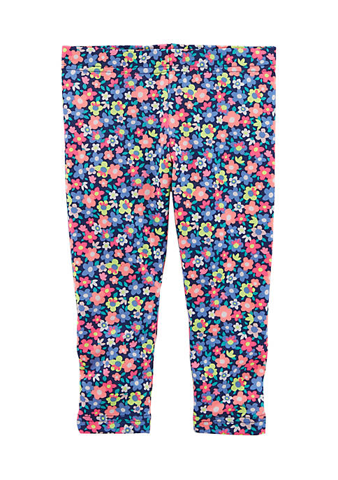 Carter's® Floral Capri Leggings Girls 4-6x