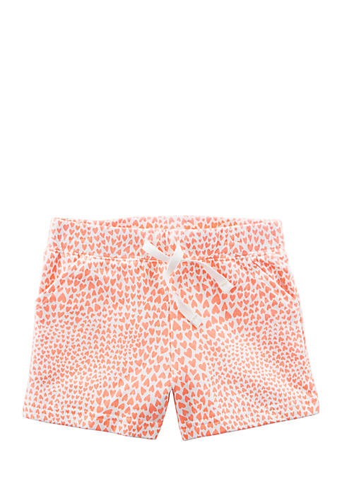 Carter's® Easy Pull-On Knit Shorts Girls 4-6x