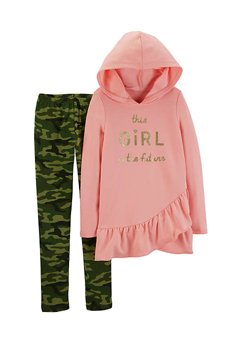 Carter's® Girls 4-6x 2-Piece French Terry Hoodie And