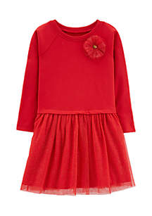 Girls 4-8 Bow Holiday Dress
