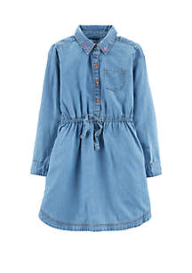 Girls 4-8 Embroidered Jean Dress