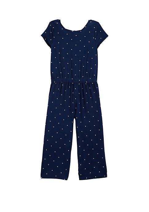 Carter's® Girls 4-8 Polka Dot Jersey Jumpsuit