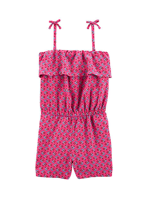 Carter's® Girls 4-8 Floral Tank Romper
