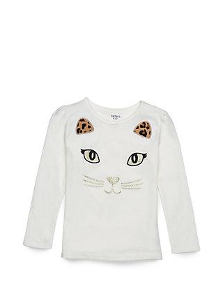 a9c73d28c Carter's® Girls 4-6x Cat Face Top | belk