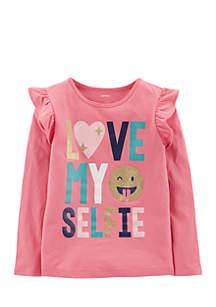 Girls 4-6x Love My Selfie Matchtastic Top