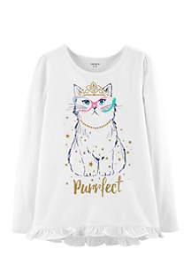 Girls 4-6x Princess Cat Tee