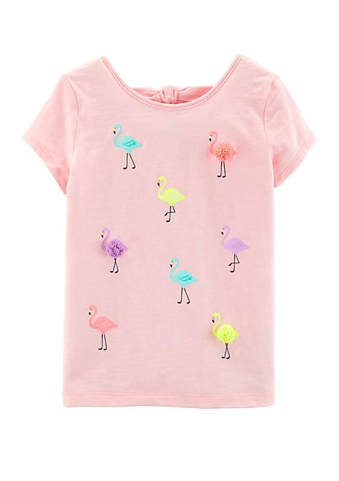 Carter's® Girls 4-6x Flamingo T Shirt