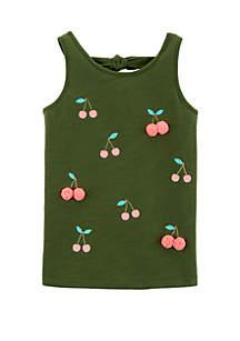Carter's® Girls 4-6x Olive Cherry Tank