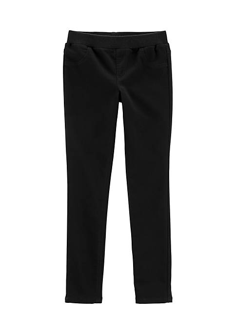 Carter's® Girls 4-6x Black Knit Denim Pants
