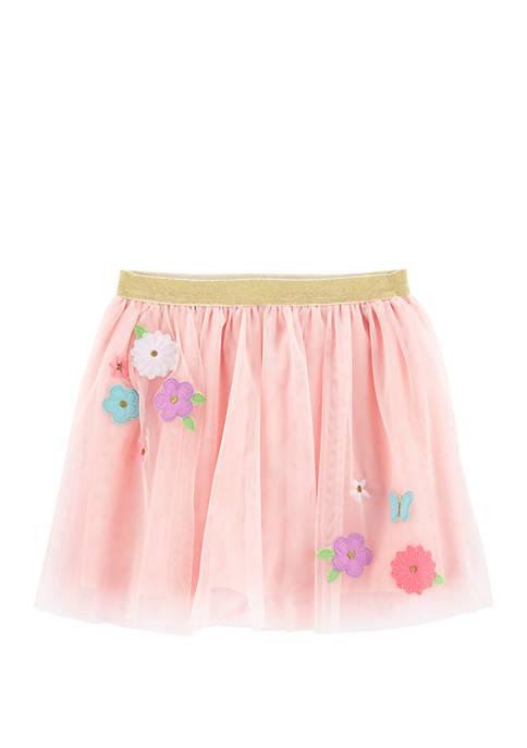 Carter's® Girls 4-8 Flower Tulle Tutu Skirt
