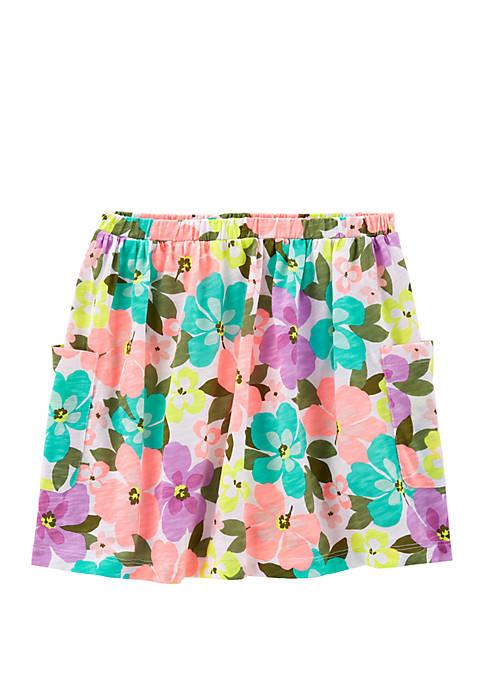 Carter's® Girls 4-6x Floral Slub Skort